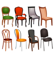 Chairs Set vector image vector image
