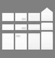 Blank white paper envelopes templates set vector image