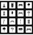 Park icons set simple style vector image