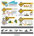 road trip travel car tourism infographic design vector image vector image