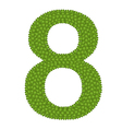 Four Leaf Clover of Alphabet Numbers 8 vector image