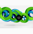 modern 3d ring abstract background vector image
