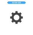 Settings icon flat cogwheel icon vector image