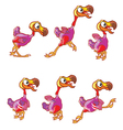 Jumping Dodo Animation Sprite vector image