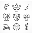 Golf sign and symbols vector image