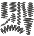 Metallic Springs Collection Isolated vector image