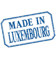 Luxembourg - made in blue vintage isolated label vector image