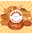background set of fresh bread baked vector image