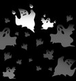 created halloween mad ghosts abstract background vector image