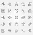 cryptocurrency icons set crypto currency vector image