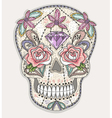 Cute mexican skull vector image