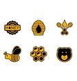 honey yellow icons vector image