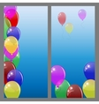 Set of banners or cards with colored balloons vector image