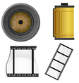 set of objects for a photo vector image