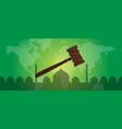 sharia islam law justice verdict case legal gavel vector image