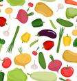 Vegetables pattern seamless Vegetable organic food vector image