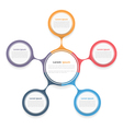 Circle Diagram with Five Elements vector image vector image
