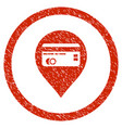 credit card pointer rounded grainy icon vector image