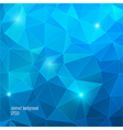 Geometric blue background with triangle vector image