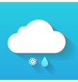 Day cloud snow flake and rain drop isolated on vector image vector image