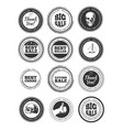 shapes for labels and stamps vector image