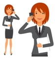 cute business lady in suit vector image