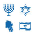jewish icons vector image vector image