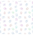 Seamless pattern from color film retro vector image