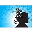 human head silhouette vector image