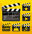 Clapboard icon set vector image