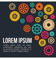 Industrial wheel with colors design vector image