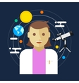 astronomer space science women vector image