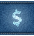 Jeans banner with dollar symbol vector image