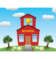 Country school house vector image