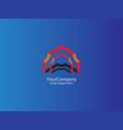house arrow door logo icon initial letter a logo vector image