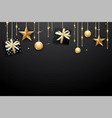 merry christmas and happy new year on dark vector image