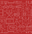 movie seamless pattern background with vector image