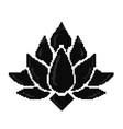 pixel art lotus icon isolated vector image