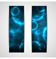 set of abstract blue banners vector image