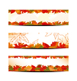 Set of colorful autumn leaves banner vector