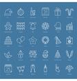 30 Christmas Icons vector image