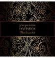Invitation decorative golds 42 vector image