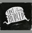 poster take away burger chalk vector image vector image