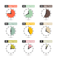 Clock Face Set vector image