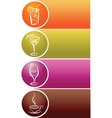 drinks and refreshments vector image vector image