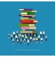 People crowd around books vector image