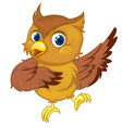 Comical owl vector image