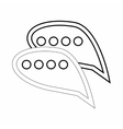 Bubble speech icon outline style vector image