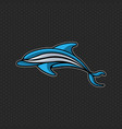 dolphin logo icon design template vector image