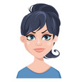 facial expression of a woman - dissatisfied vector image